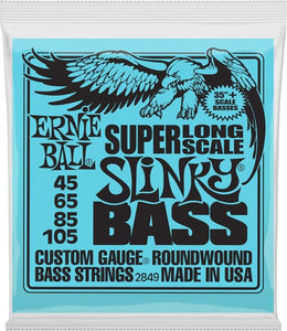"Ernie Ball Super Slinky 35""+ Long Scale Bass Strings - 45-105"