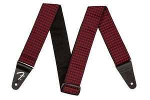 Fender Houndstooth Strap - Red - 0990709009