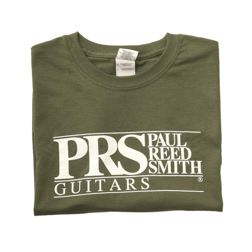 PRS Short Sleeve T-Shirt PRS Block Logo in Military Green - Large