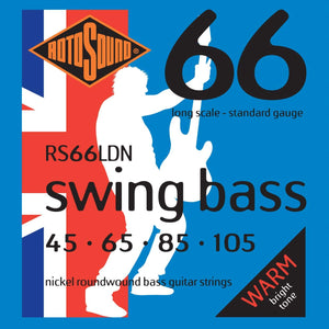 Rotosound RS66LDN Nickel Swing Bass Long Scale Standard Gauge 45-105
