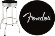 "Load image into Gallery viewer, Fender™ 30"" Silver Sparkle Electric Guitar Practice Barstool"