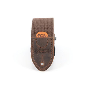 Martin Basic Cotton Weave Strap with Pick Holder Brown