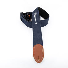 "Load image into Gallery viewer, Martin 2"" Eco Friendly Denim Cotton Guitar Strap"