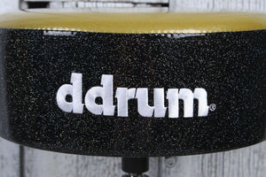 ddrum Mercury Fat Double Braced Drum Throne Gold and Black Sparkle MFAT GB