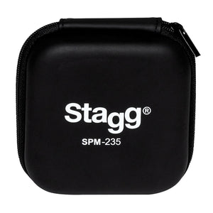 Stagg SPM-235 High Resolution Sound Isolating In Ear Monitors Headphones w Case