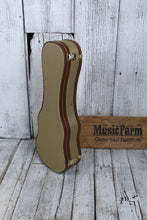 Load image into Gallery viewer, Stagg Soprano Ukulele Hardshell Case Vintage Tweed with Gold Hardware GCX-UKS-GD