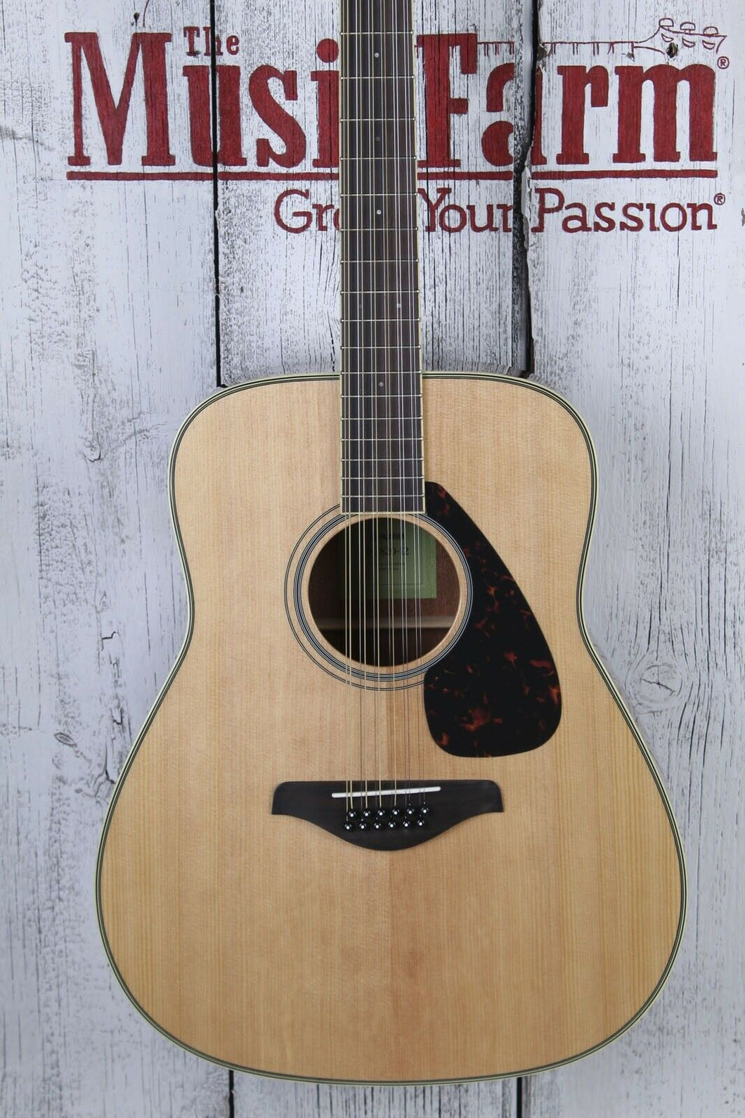 Yamaha FG820-12 Dreadnought 12 String Acoustic Guitar Solid Spruce Top Natural