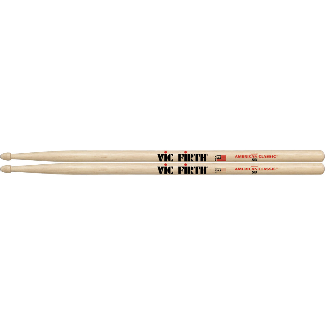 Vic Firth American Classic 5BVF 5B Wood Tip Drum Sticks 1 Pair