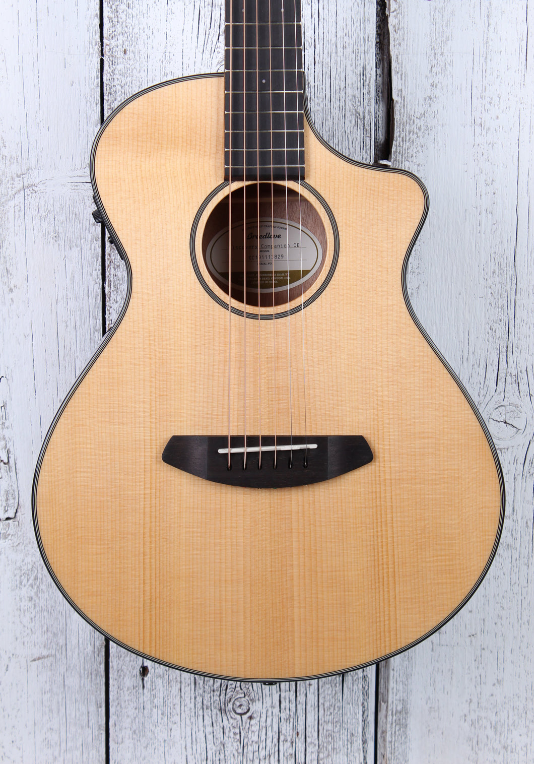 Breedlove Discovery Companion CE Acoustic Electric Guitar Solid Top with Gig Bag