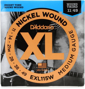 D'ADDARIO 11-49 WITH  WOUND G STRING