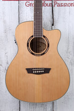 Load image into Gallery viewer, Washburn AG40CE Grand Auditorium Acoustic Electric Guitar with Hardshell Case