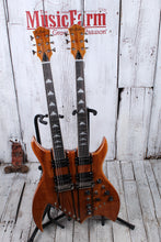 Load image into Gallery viewer, BC Rich Double Neck Rich B Exotic Koa Legacy Bich Electric Guitar with Hard Case