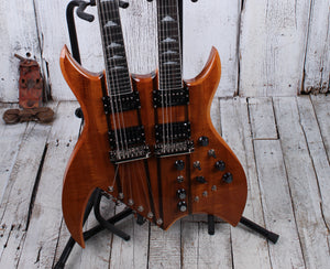 BC Rich Double Neck Rich B Exotic Koa Legacy Bich Electric Guitar with Hard Case