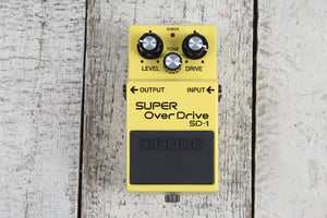 Boss SD-1 Super Overdrive Effects Pedal Overdrive Electric Guitar Effects Pedal
