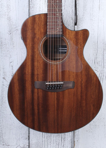 Ibanez AE2912 12 String Acoustic Electric Guitar Solid Top Natural Low Gloss
