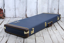 Load image into Gallery viewer, Fender® Classic Series Wood Guitar Case Strat and Tele Hardshell Case Navy Blue
