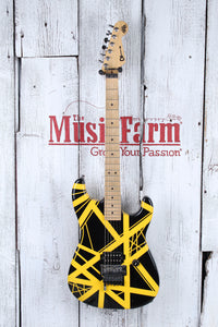 Charvel USA Art Series EVH Bumblebee Stripe Series Black and Yellow