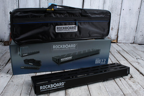 RockBoard by Warwick RBO B 2.2 DUO B Guitar Effects Pedal Pedal Board w Gig Bag