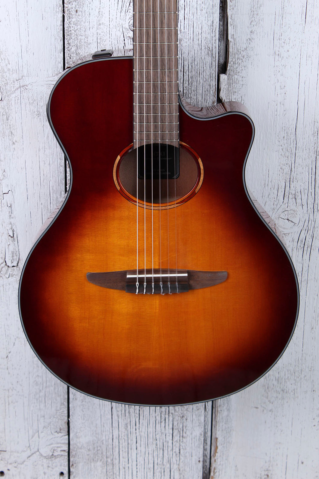 Yamaha NTX1 Nylon String Thinline Classical Acoustic Electric Guitar Sunburst