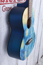 Load image into Gallery viewer, Luna Uke Starry Night Tenor Ukulele Starry Night Graphic UKE STR T with Gig Bag