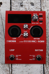 Boss RC-10R Rhythm Loop Station Electric Guitar Effects Stereo Looper Pedal