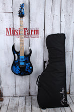 Load image into Gallery viewer, Ibanez JEM77P Steve Vai Signature Electric Guitar Blue Floral Pattern w Gig Bag