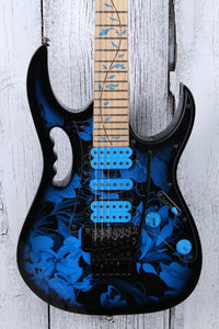 Ibanez JEM77P Steve Vai Signature Electric Guitar Blue Floral Pattern w Gig Bag
