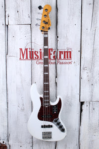 Fender® American Ultra Jazz Bass 4 String Electric Bass Guitar with Case and COA