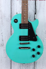 Load image into Gallery viewer, Epiphone Les Paul Studio Solid Body Electric Guitar Turquoise Finish w Gig Bag