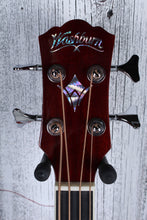 Load image into Gallery viewer, Washburn AB5 4 String Cutaway Acoustic Electric Bass Guitar Natural with Gig Bag
