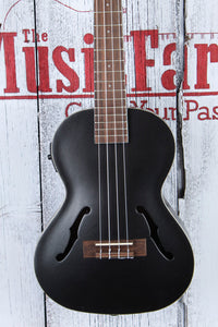 Kala Tenor Archtop Acoustic Electric Ukulele Metallic Black Gloss Uke KA-JTE/MTB