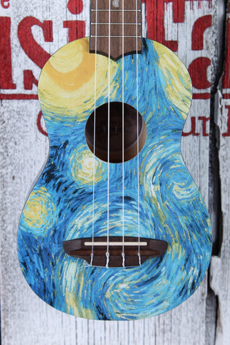 Luna New for 2020 Uke Starry Night Soprano Ukulele UKE STR S with Gig Bag