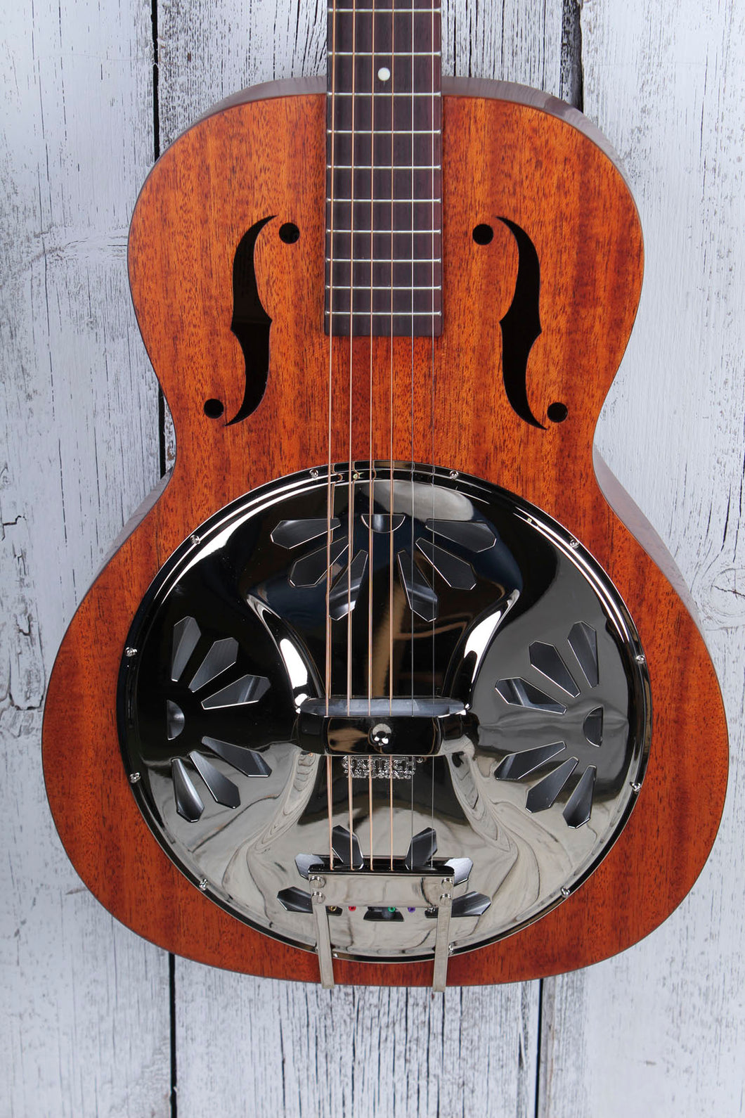 Gretsch G9200 Boxcar Round Neck Resonator Guitar Mahogany Body Natural Finish