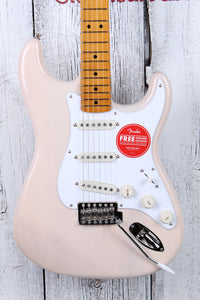 Fender® Squier Classic Vibe '50s Stratocaster Electric Guitar White Blonde Strat