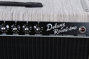 Fender® Special Run '65 Deluxe Reverb Chilewich Chalk Electric Guitar Amplifier