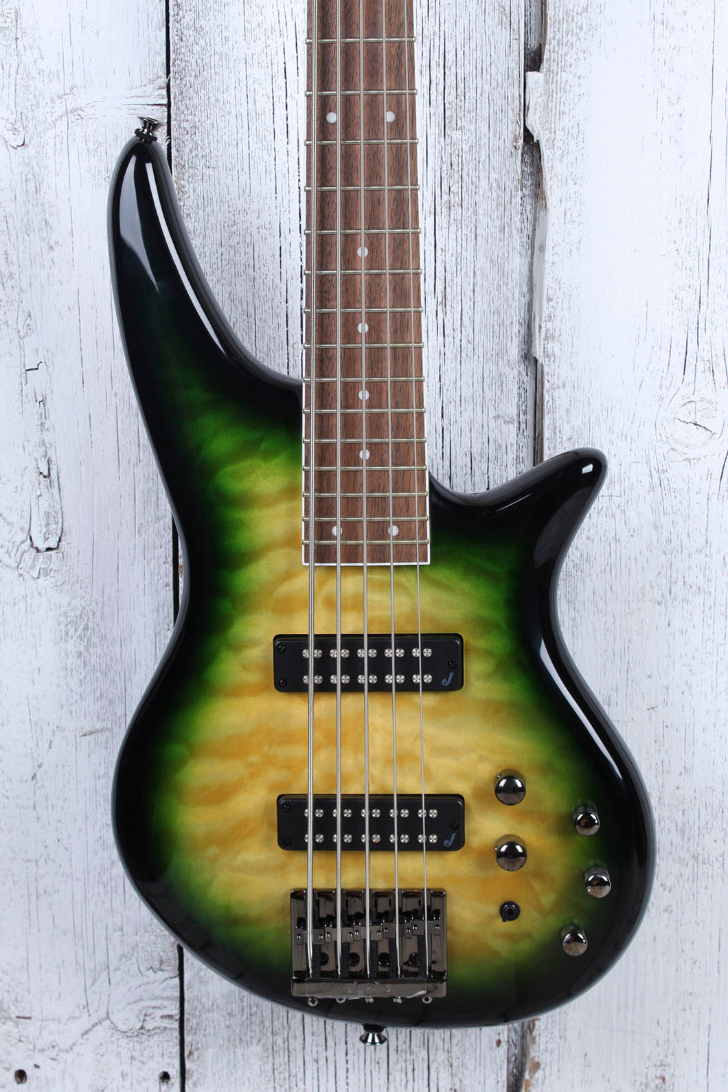 Jackson JS Series Spectra Bass JS3QV 5 String Electric Bass Guitar Alien Burst