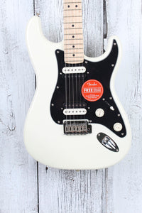 Fender® Squier Contemporary Stratocaster HH Electric Guitar Pearl White Finish