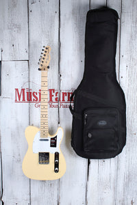 Fender® American Performer Telecaster Electric Guitar Vintage White with Gig Bag