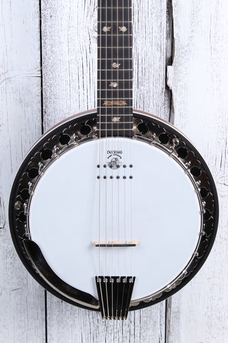 Deering Boston 6 String Acoustic Electric Banjo with Kavanjo Pickup & Case NAMM