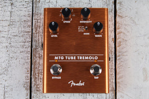 Fender® MTG Tube Tremolo Pedal Electric Guitar Effects Pedal Real Tube Tone
