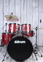 Load image into Gallery viewer, ddrum D2 522 RSP 5 Piece Complete Drum Kit with Hardware & Cymbals Red Sparkle