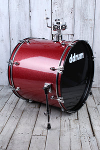 ddrum D2 522 RSP 5 Piece Complete Drum Kit with Hardware & Cymbals Red Sparkle