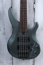 Load image into Gallery viewer, Yamaha 5 String Electric Bass Guitar with EQ Active Circuitry TRBX305 Mist Green