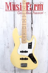 Fender® Player Jazz Bass 4 String Electric Bass Guitar Buttercream Gloss Finish