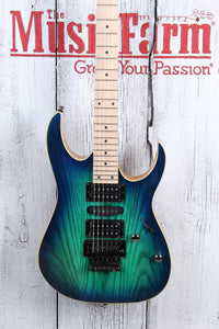 Ibanez RG470AHM Solid Body Electric Guitar Quantum HSH Blue Moon Burst Finish