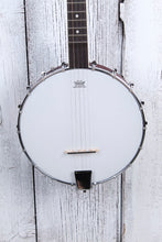 Load image into Gallery viewer, Washburn B7 Americana Series 5 String Open Back Banjo Natural Matte Finish NAMM