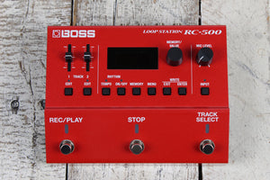 Boss RC-500 Loop Station Electric Guitar Effects Pedal Two Track Looper Pedal
