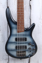 Load image into Gallery viewer, Ibanez SR305E Solid Body 5 String Electric Bass Guitar Black Planet Matte