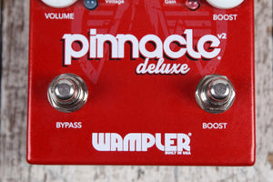 Wampler Pinnacle Deluxe V2 Overdrive Pedal Electric Guitar Effects Pedal