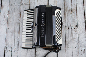 Paolo Soprani Accordion 41 Key Piano Keyboard Accordion w Straps Made In Italy